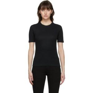 rag and bone Black The Rib Slim T-Shirt
