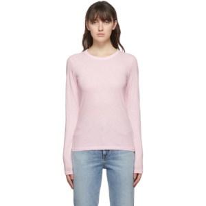 rag and bone Pink The Slub Slim Long Sleeve T-Shirt