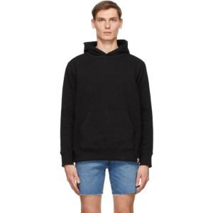 Bather Black Cotton Hoodie