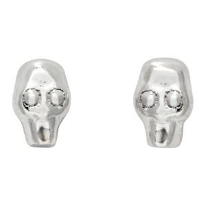 Stolen Girlfriends Club Silver Tiny Stolen Skull Earrings