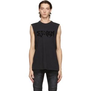 Stolen Girlfriends Club Grey Pogues Sleeveless T-Shirt