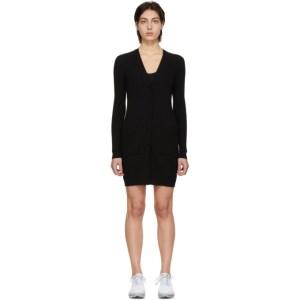 Live the Process Black Knit Robe Dress