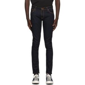 Nudie Jeans Indigo Dry Skinny Lin Jeans