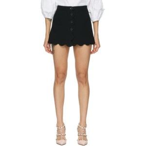 RED Valentino Black Fused Tech Shorts