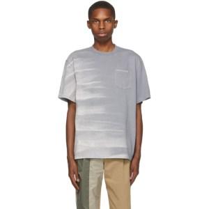 Feng Chen Wang Grey Tie-Dye T-Shirt