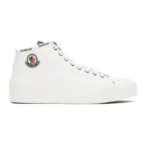 Moncler White Lissex Sneakers