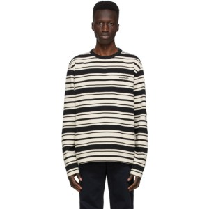 Norse Projects Black and White Stripe Holger Long Sleeve T-Shirt