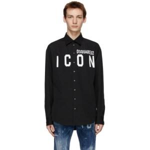 Dsquared2 Black Icon Dropped Shirt