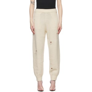Helmut Lang Off-White Distressed Lounge Pants