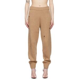 Helmut Lang Tan Distressed Lounge Pants