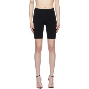 Helmut Lang Black Jersey Bike Shorts
