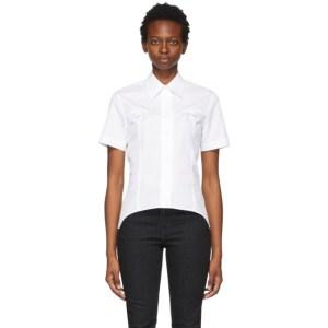 Helmut Lang White Contour Short Sleeve Shirt