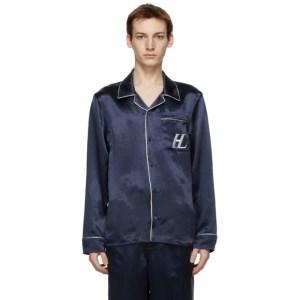 Helmut Lang Navy Pajama Shirt