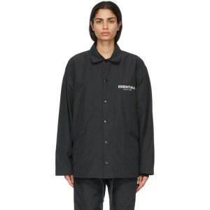Essentials Black Coach Jacket