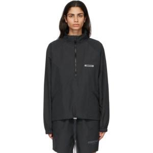 Essentials Black Half-Zip Track Jacket