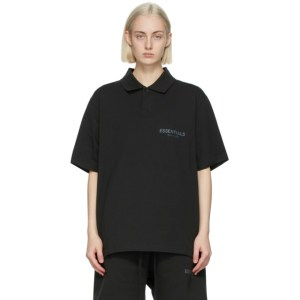 Essentials Black Short Sleeve Polo
