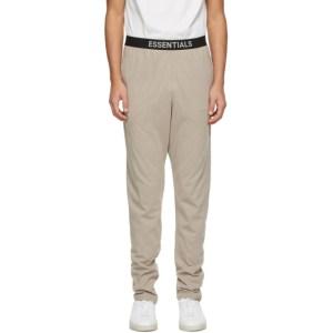 Essentials Beige Jersey Lounge Pants