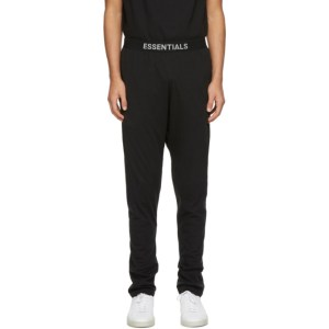 Essentials Black Jersey Lounge Pants