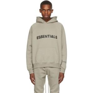 Essentials Khaki Pullover Logo Hoodie