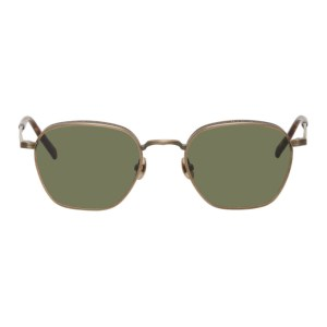 Matsuda Gold and Brown M3101 Sunglasses