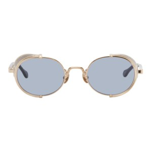 Matsuda Gold and Navy 10610H Sunglasses