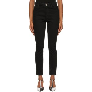 Goldsign Black The High-Rise Slim Jeans
