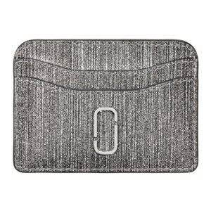 Marc Jacobs Silver Glitter Snapshot Card Holder