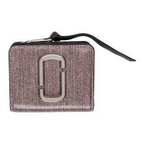Marc Jacobs Pink Glitter Mini Snapshot Wallet