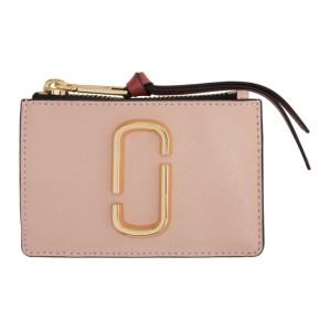 Marc Jacobs Pink The Snapshot Top Zip Card Holder