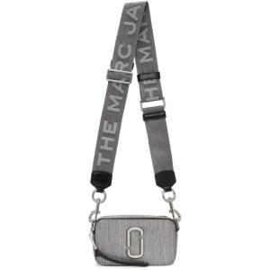 Marc Jacobs Silver Glitter Snapshot Bag