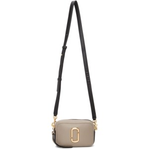 Marc Jacobs Taupe and Black The Softshot 17 Bag