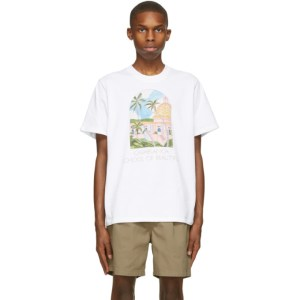 Casablanca White Print School Of Beautiful T-Shirt