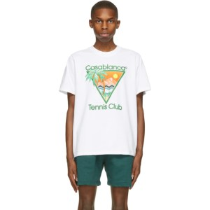 Casablanca White Print Tennis Club Icon T-Shirt