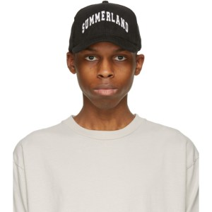 Nahmias Black Corduroy Summerland Trucker Cap