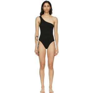 Haight Black Crepe Organic One-Piece Swimsuit