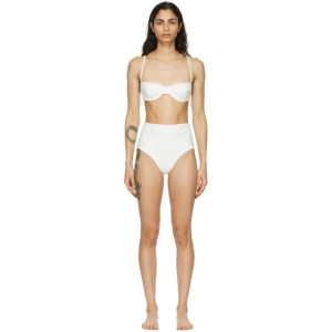 Haight Off-White Crepe Vintage Bikini