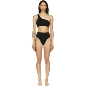 Haight Black Crepe Perlin Bikini