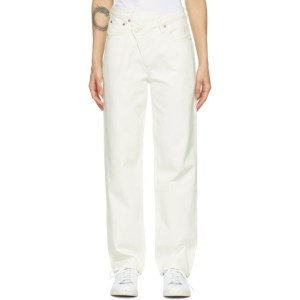 AGOLDE White Criss Cross Upsized Jeans