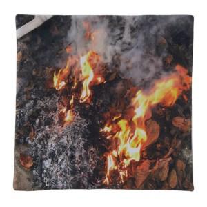 Serapis SSENSE Exclusive Multicolor Fire Print Pillow Case