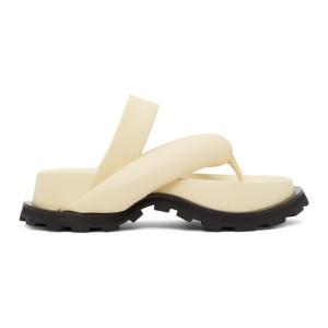 Jil Sander Off-White Oversize Strap Sandals