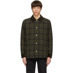 A.P.C. Khaki Wool Checkered Jacket