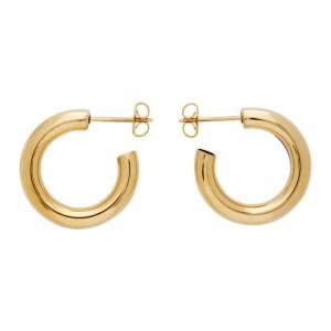 Laura Lombardi Gold Medium Hoop Earrings