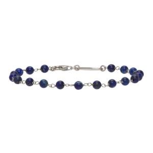 Giorgio Armani Blue and Silver Bead Bracelet