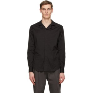 Giorgio Armani Black Poplin Shirt