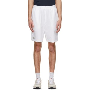 Lacoste White Sport Stretch Tennis Shorts