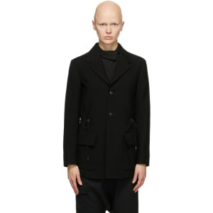 Regulation Yohji Yamamoto Black Waist Tighten Blazer