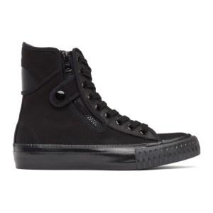Regulation Yohji Yamamoto Black Canvas High-Top Sneakers