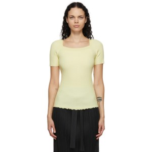 3.1 Phillip Lim Yellow Merino Rib Knit T-Shirt