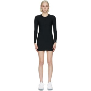 Gil Rodriguez SSENSE Exclusive Black Thermal Henley Dress
