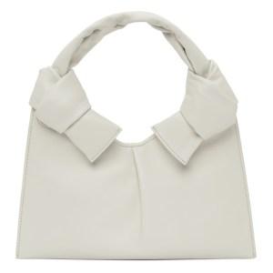 Little Liffner Off-White Knot Evening Bag